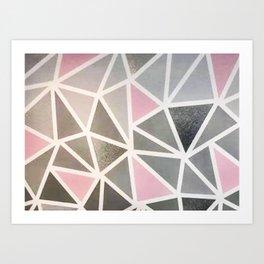 Geometric oainted desisn Art Print
