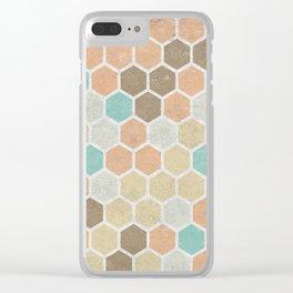 Geometric Maze Clear iPhone Case