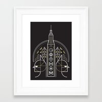 gotham Framed Art Prints featuring Gotham by Aliel Arts