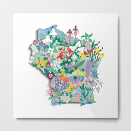 Wisconsin Wildflowers Metal Print
