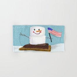 Patriotic S'mores Sledding In Winter Hand & Bath Towel