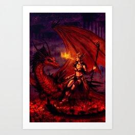 Firebreather Art Print
