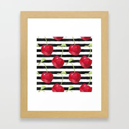 Cherry pattern Framed Art Print