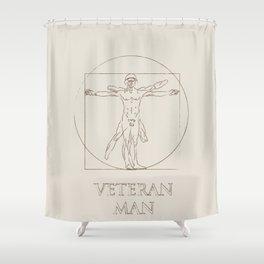 Veteran Man Shower Curtain