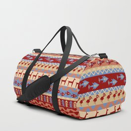 Inca Animals Fish and Birds Pattern Duffle Bag