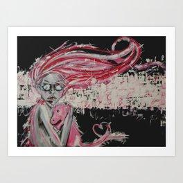 Rocket Unicorn Art Print