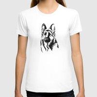 german shepherd T-shirts featuring German Shepherd by JonathanStephenHarris