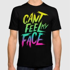 Can't Feel My Face Mens Fitted Tee MEDIUM Black