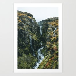 Glymur Falls Art Print