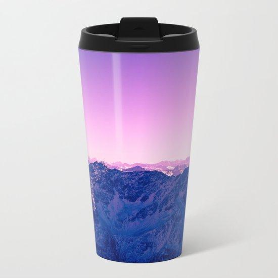 Pink Mountains #society6 #photography Metal Travel Mug