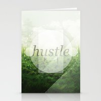 hustle Stationery Cards featuring Hustle by beardasaurus