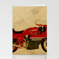 ducati Stationery Cards featuring Ducati 900 MHR 1980 by Larsson Stevensem