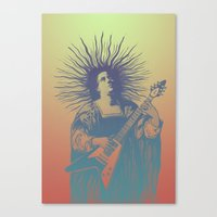 psych Canvas Prints featuring V - Psych by ochre7
