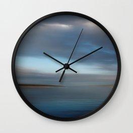 blue morning Wall Clock