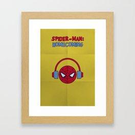 Spider-man Homecoming Minimalist Poster - Headphones Framed Art Print