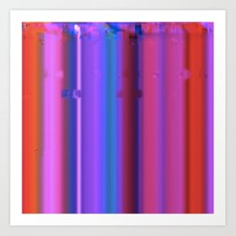 Glitch Strips Art Print