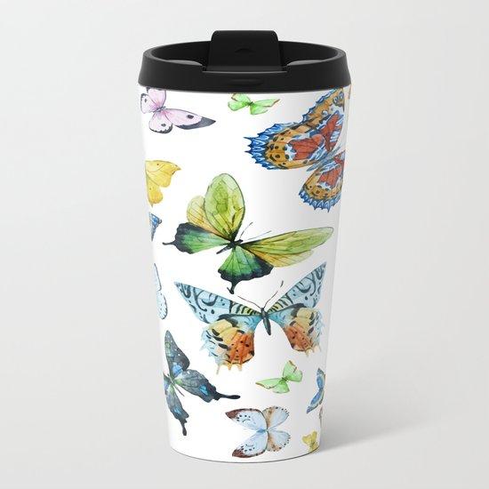 Butterflies 03 Metal Travel Mug