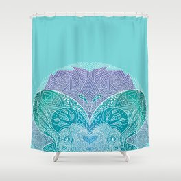 Butterfly mandala Shower Curtain