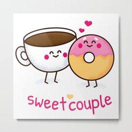 Sweet Couple Metal Print