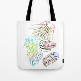 Silurian and Devonian Era Trilobites Tote Bag