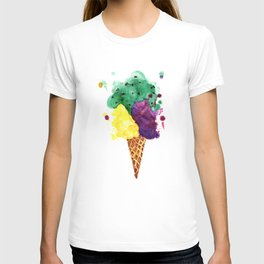 Ice Cream - 3 Scoops! T-shirt