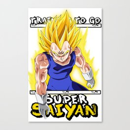 Training to go Super Saiyan - Majin Vegeta Canvas Print