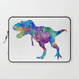 Dinosaur T-Rex Tyrannosaurus Rex Art Animals Nursery Decor Kids Room Watercolor Print Blue Purple Di Laptop Sleeve
