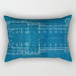 Church Floor Plan Blueprint Rectangular Pillow