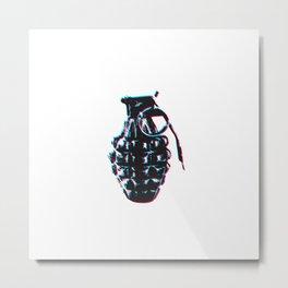 Hand Grenade Metal Print