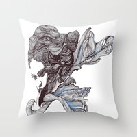 wings Throw Pillows featuring Wings by Ilariabp.art