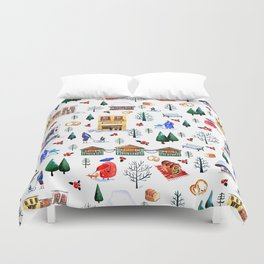 Winter in the City Duvet Cover