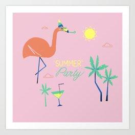 Pink-Flamingo Art Print