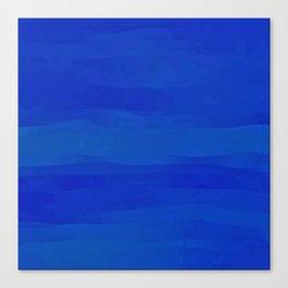 Subtle Cobalt Blue Waves Pattern Ombre Gradient Canvas Print
