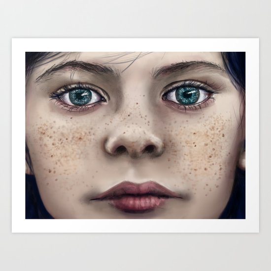Blue Eyed Girl Art Print