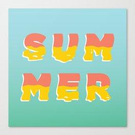 MELTING SUMMER Canvas Print