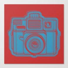 I Still Shoot Film Holga Logo - Red & Blue Canvas Print