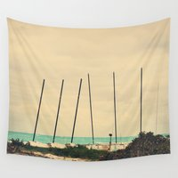 boats Wall Tapestries featuring Boats by Kiera Wilson