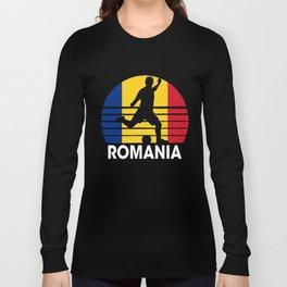 Romania Soccer Football ROU Long Sleeve T-shirt