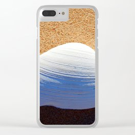 Clam Shell on the Beach Clear iPhone Case