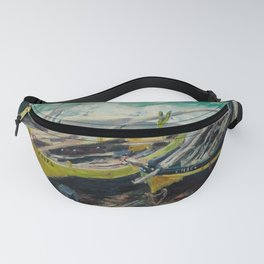 Claude Monet - Three Fishing Boats Fanny Pack