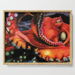 Big Red Octopus Serving Tray