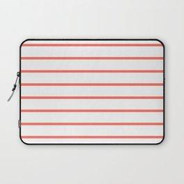 Living Coral Breton Stripes Laptop Sleeve