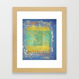 LOVE BREAKS WALLS Framed Art Print
