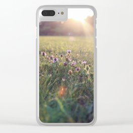 Lazy Sunday Clear iPhone Case