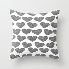 silver heart-10 Throw Pillow