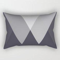 Sawtooth Inverted Blue Grey Rectangular Pillow