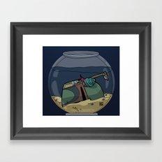 The Snail Conquers The Fett Framed Art Print