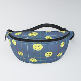Colorful Smiley Emoji 5 - dark blue Fanny Pack