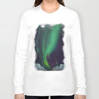 northern lights Long Sleeve T-shirts featuring northern lights by Ewa Pacia
