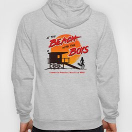 At the Beach with the Boys (90s version) Hoody